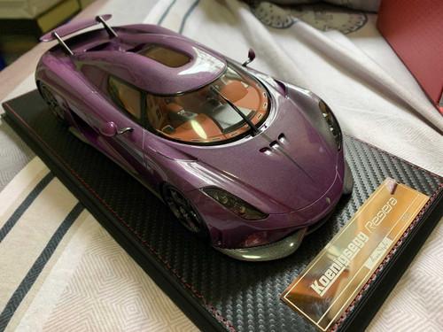 1/18 Frontiart FA Koenigsegg Regera Avanstyle (Purple) Resin Car Model Limited 50