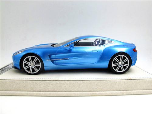 1/18 Tecnomodel Aston Martin One-77 One77 (Blue) Resin Car Model