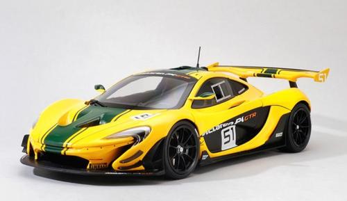 1/18 Almost Real Almostreal McLaren P1 GTR #51 (Yellow) Diecast Car Model