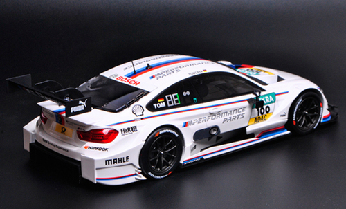 1/18 Dealer Edition 2016 BMW F82 M4 DTM Martin Tomczyk #100 Diecast Car Model