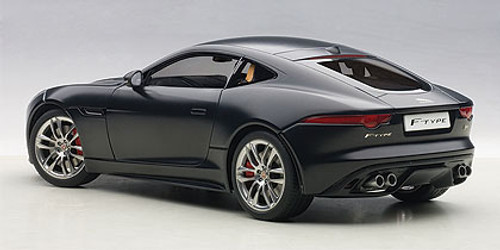 1/18 AUTOart JAGUAR F-TYPE FTYPE 2015 R COUPE (Matte Black) Diecast Car Model 73654