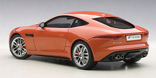 1/18 AUTOart JAGUAR F-TYPE FTYPE 2015 R COUPE (Firesand Metallic Orange) Diecast Car Model 73654