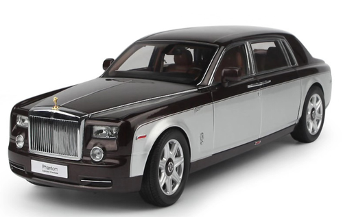 1/18 Kyosho Rolls-Royce Phantom EWB Extended Wheelbase (Brown / Silver) Diecast Car Model limited