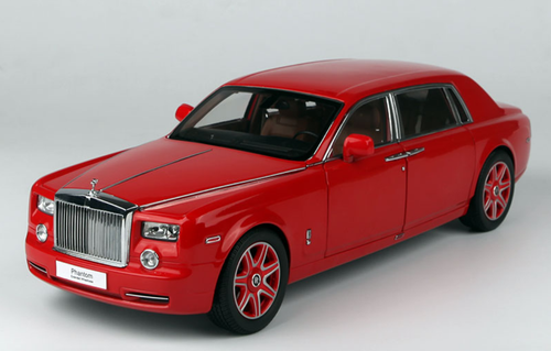 1/18 Kyosho Rolls-Royce Phantom EWB Extended Wheelbase (China Red) Diecast Car Model limited