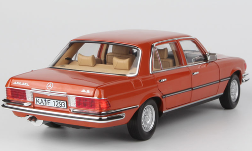 1/18 Norev 1976 Mercedes-Benz Mercedes S-Class S-Klasse W116 450SEL 450 SEL 6.9 (Orange Metallic) Diecast Car Model