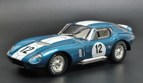 1/18 Dealer Edition 1965 Ford Shelby Mustang Cobra Coupe Daytona #12 (Blue) Diecast Car Model