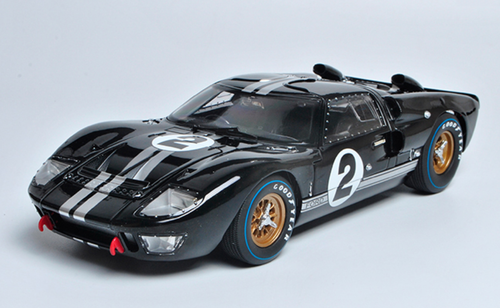 1/18 Dealer Edition Ford GT-40 GT40 MK II MKII #2 (Black) Diecast Car Model