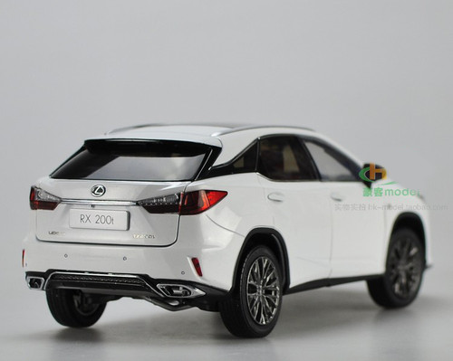 1/18 Dealer Edition Lexus RX RX350 F Sport FSport (White) Diecast Car Model w/ Interior customized to black color