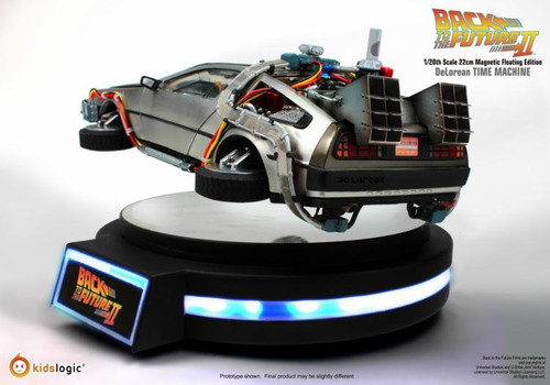 1/20 Kidslogic Kids Logic Back to the Future II DeLorean Time Machine Magnetic Floating Edition
