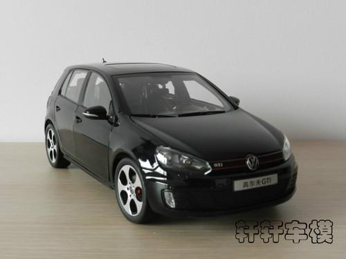 1/18 Dealer Edition Volkswagen Golf GTI 6th generation (MK6/A6, Typ 5K; 2008–2012) (Black) Diecast Car Model
