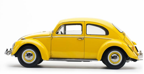 1/12 Sunstar 1961 Volkswagen VW Beetle (Yellow) Diecast Car Model Limited