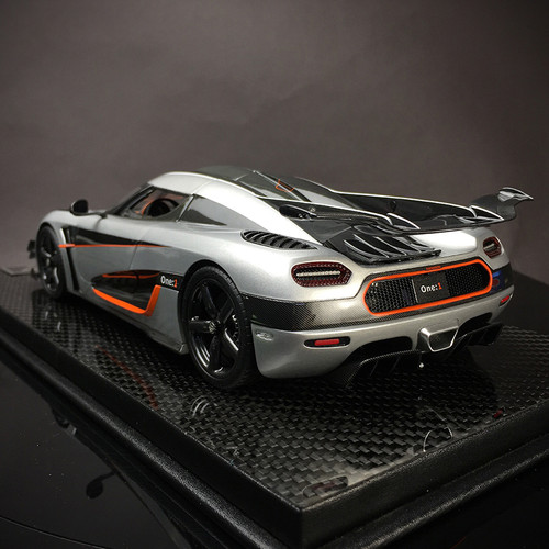 1/18 Frontiart Koenigsegg One:1 (Silver) Fully Open Diecast Car Model