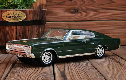 1/18 1966 Dodge Charger (Green) Diecast Car Model