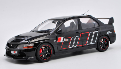 1/18 Super A SuperA Mitsubishi Evo 9 Evo9 Evo IX 9th Generation RA Ralliart (Black) Diecast Car Model Limited 555