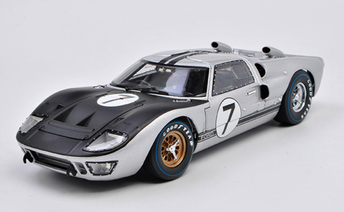 1/18 Dealer Edition 1966 Ford GT-40 GT40 MK II MKII #7 (Silver / Black) Diecast Car Model