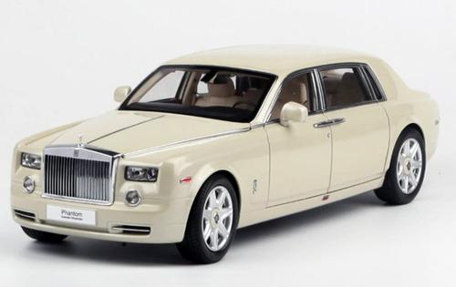 1/18 Kyosho Rolls-Royce Phantom EWB Extended Wheelbase (White) Diecast Car Model