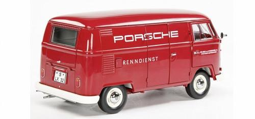 1/18 Volkswagen VW T1 Transporter Porsche Renndienst Kastenwagen (Red)