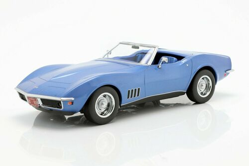 1/18 Norev Chevrolet Chevy C3 Corvette Cabriolet (Blue) Diecast Car Model