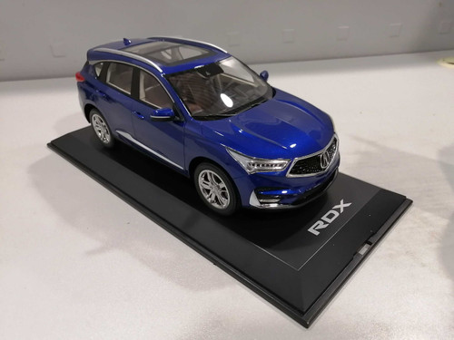 1/18 Dealer Edition 2019 Acura RDX (Blue) 3rd Generation (TC1 / TC2, 2019–present) Resin Car Model