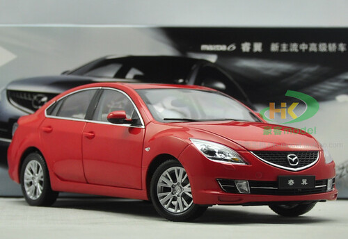 1/18 Dealer Edition Mazda 6 2nd Generation (GH1; 2007–2012) (Red) Diecast Car Model