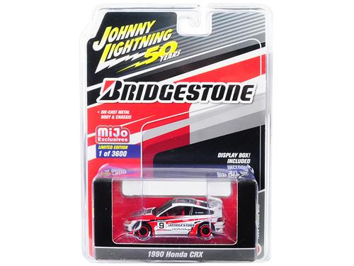 "1/64 Johnny Lightning 1990 Honda CRX #9 ""Bridgestone"" ""Johnny Lightning 50th Anniversary"" Limited Edition to 3,600 pieces Worldwide Diecast Car Model"
