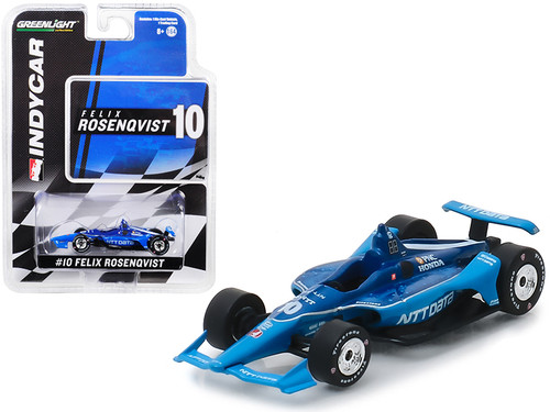 "1/64 Diecast Model Car by GreenlightHonda Dallara Indy Car #10 Felix Rosenqvist ""NTT Data"" Chip Ganassi Racing Diecast Car Model"