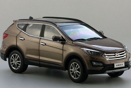 1/18 Dealer Edition Hyundai Santa Fe Santafe (Brown) Diecast Car Model