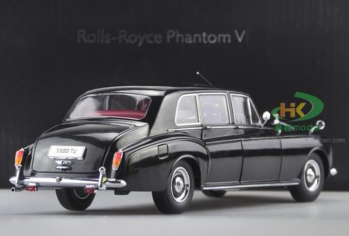 1/18 Dealer Edition 1967 ROLLS-ROYCE PHANTOM V HARDTOP (BLACK) Diecast Car Model