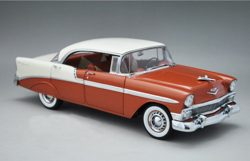 1/18 PrecisionMiniatures PM 1956 CHEVROLET BEL AIR BELAIR (RED/BROWN) MODEL