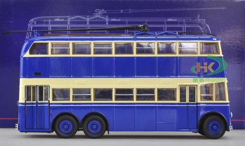 1/43 ULTRA MODELS RUSSIAN DOUBLE DECKER TROLLEY BUS MODEL (TWO DOOR VERSION)