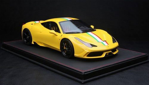 BBR HANDMADE RESIN 1/18 FERRARI 458 SPECIALE (YELLOW)! LIMITED 30!