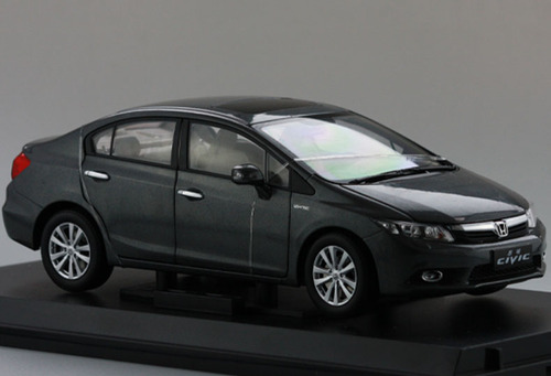 1/18 Dealer Edition Honda Civic (Grey) 9th Generation (2012–2015) Diecast Car Model