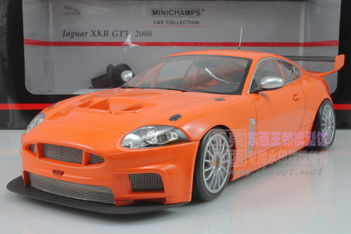 1/18 MINICHAMPS 2008 JAGUAR XKR GT3 (ORANGE) Diecast Car Model