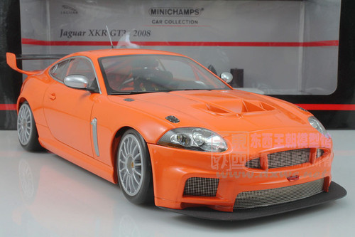 1/18 MINICHAMPS JAGUAR XKR GT3 (ORANGE) DIECAST CAR MODEL