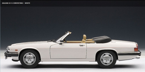 1/18 AUTOart JAGUAR XJ-S CONVERTIBLE (WHITE) DIECAST CAR MODEL 73571
