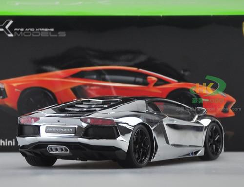 1/18 Lamborghini Aventador LP700 LP700-4 (Gloss Silver) Diecast Car Model