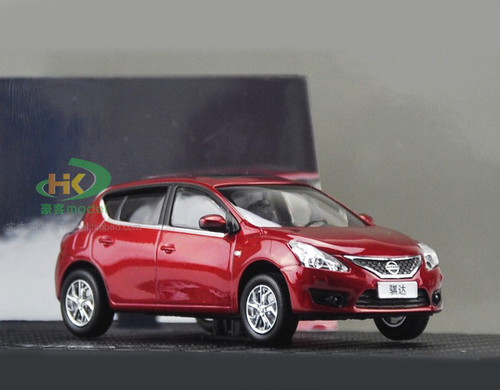 DEALER 1/43 NISSAN TIIDA (RED) DIECAST CAR MODEL