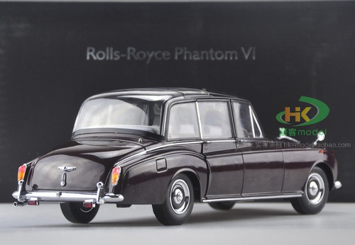 1/18 1967 ROLLS-ROYCE PHANTOM VI BRITISH QUEEN EDITION (WINE RED) MODEL