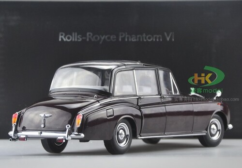 1/18 Dealer Edition 1967 Rolls-Royce Phantom British Queen Edition (Wine Red) Diecast Car Model