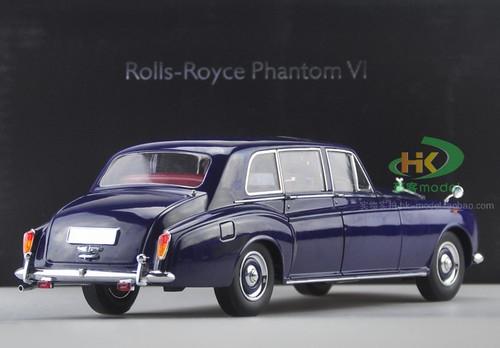 1/18 Dealer Edition 1967 Rolls-Royce Phantom VI Hardtop (Blue) Diecast Car Model