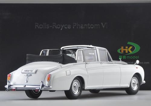 1/18 Dealer Edition 1967 Rolls-Royce Phantom VI (White) Convertible Diecast Car Model