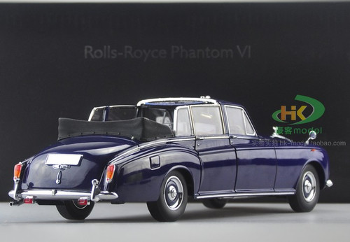 1/18 1967 ROLLS-ROYCE PHANTOM VI CONVERTIBLE (BLUE) Diecast Car Model