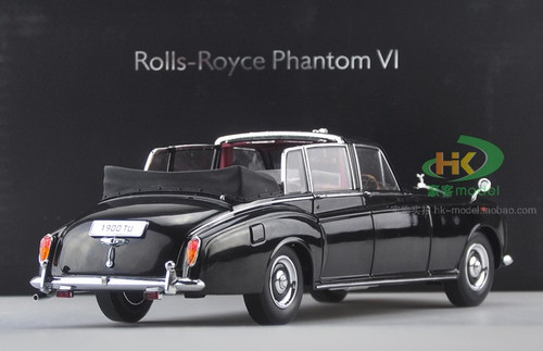 1/18 1967 ROLLS-ROYCE PHANTOM VI CONVERTIBLE (BLACK) Diecast Car Model