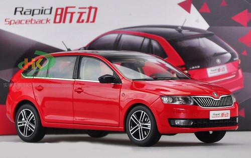 1/18 Dealer Edition SKODA RAPID SPACEBACK (Red) Diecast Car Model