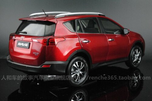1/18 2014 TOYOTA RAV4 (RED) DIECAST CAR MODEL