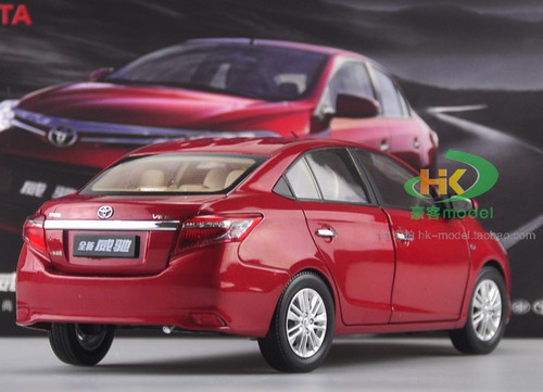 1/18 TOYOTA VIOS (RED) DIECAST CAR MODEL