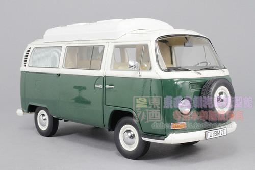 1/18 Schuco Volkswagen VW T2A Campingbus (Green) Diecast Car Model