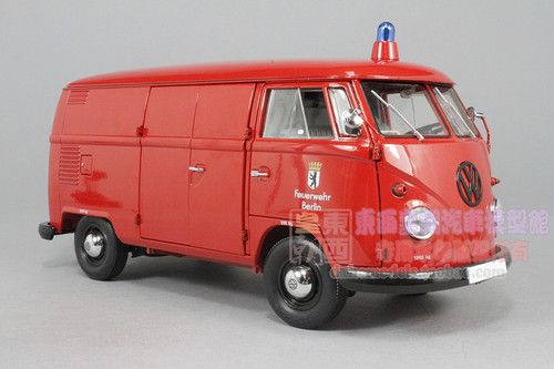 1/18 SCHUCO VOLKSWAGEN VW T1 TRANSPORTER FIREFIGHT BERLIN CAR MODEL