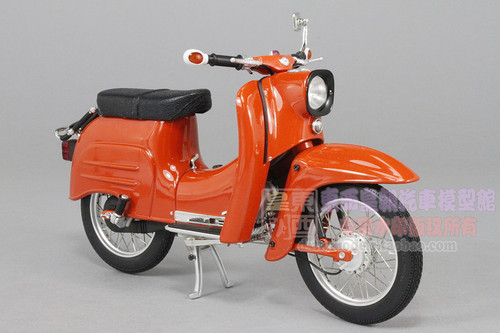 1/10 SIMSON SCHWALBE KR51/1 (ORANGE) MOTORCYCLE MODEL