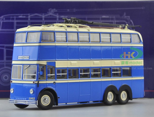 1/43 ULTRA MODELS RUSSIAN DOUBLE DECKER TROLLEY BUS MODEL (ONE DOOR VERSION)